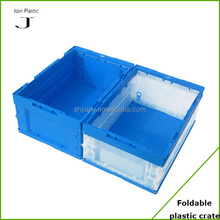 2015 hot sale good quality fold up clear plastic crate