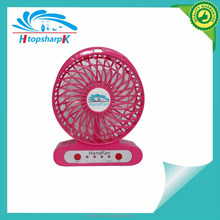 Plastic novelty hand usb mini fan with LED light for promotion