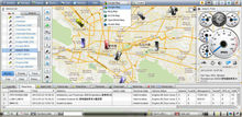 gps tracking vehicle software supports google earth and compatible trackers