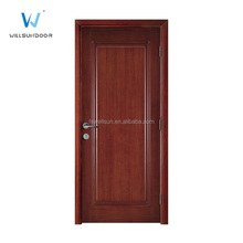 Elegant singel door design Black walnut venner interior wood door for study