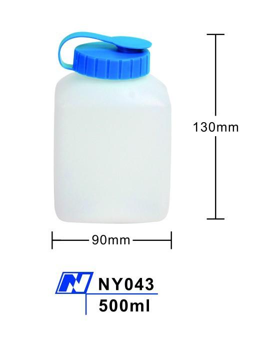 padrão da garrafa de água de tamanho 500ml plástico cantina água