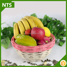 NTS High Quality Top Solid Bamboo Fruit Basket