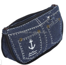 Dark bule Unique Sailors Jeans Cosmetic Bags, bulk cosmetic bag