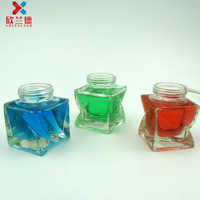 unique square shaped acrylic skincare face cream jar packaging