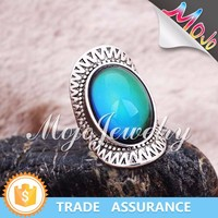Fashion Design Antique Silver Plating Mood Ring Colors Wholesale Online with Good Price