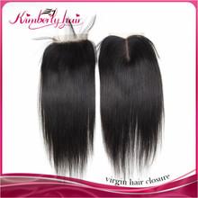 silk top closure invisible part closure virgin brazilian hair closure
