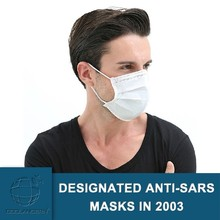 Raw material from Germany physical inactivation Non woven 3 layer disposable surgeon mask