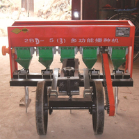 Walking tractor driven multifunctional corn/wheat planter