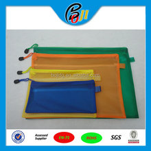 wholesale A3,A4,A5,B4,B5 PVC transparent pouch for document plastic holder