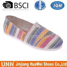 Latest China factory casual shoes light women canvas shoes with EVA outsole