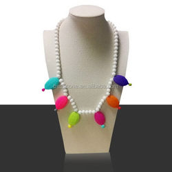 Special new products silicone chewable pendant necklace