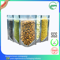 Stand up compound dried food bag with zipper top