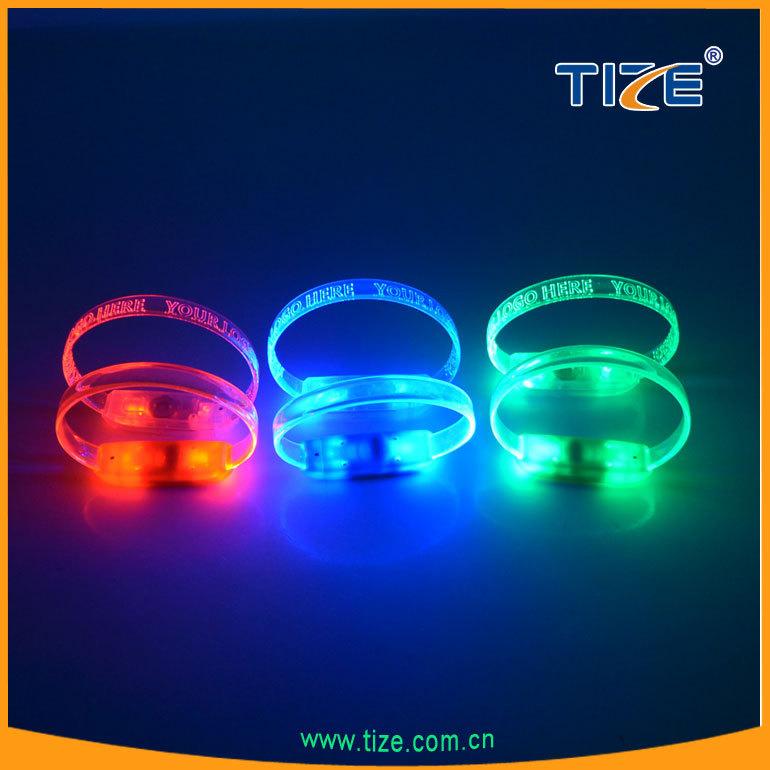 Высокое качество из светодиодов мигает браслет TZ-W230 новый из светодиодов оптический запястье для ну вечеринку