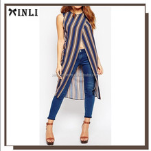 2013 new wrap front style latest fashion design models chiffon blouse for ladies
