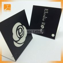 Folded paper printing clothing jeans hair hang tag