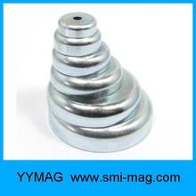 Hot sale neodymium&ferrite cup magnet hooks base