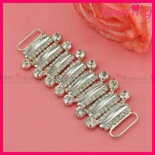 12.5*5.2cm wholesale garment crystal rhinestone chain shoes buckle for decoration WCK-1301