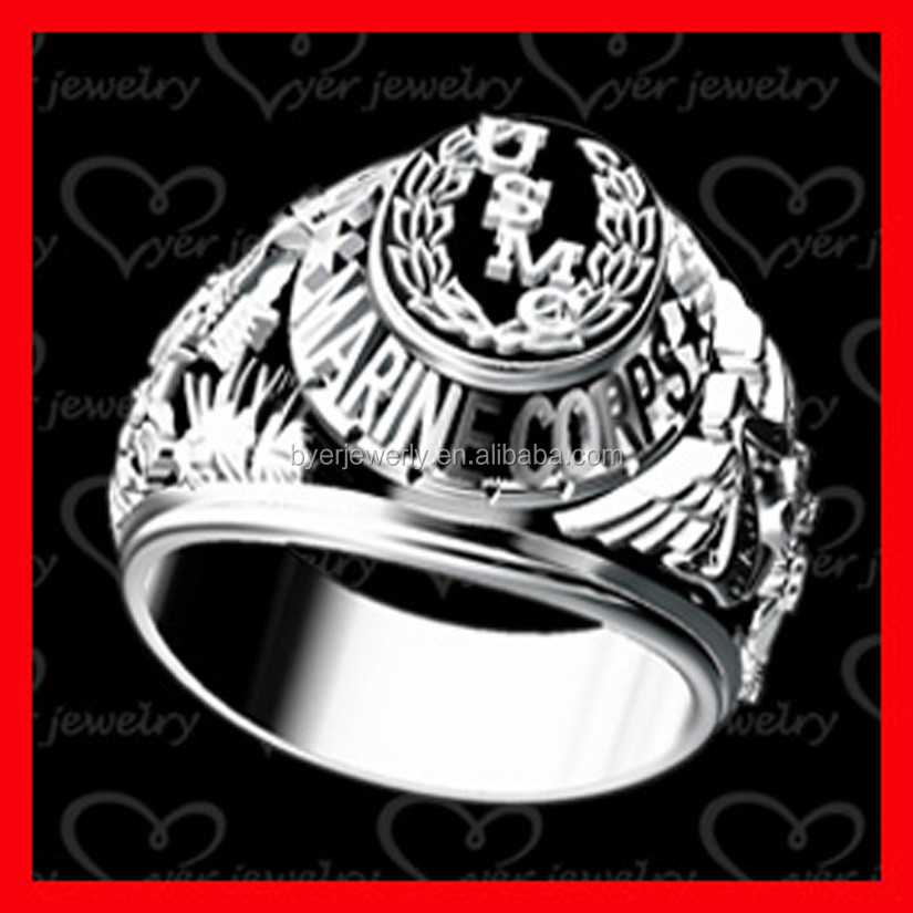 cheap army ring with black painting quality china