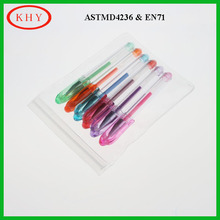 Promotion PVC packaging colorful glitter gel pen set