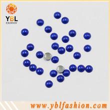 Garment accessory dark sappire flat back pearl and rhinestone