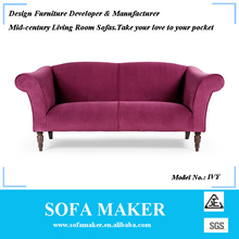 New design leather 3 seater sofa for living room furniture IVY