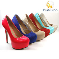 FLAMINGO 2015 LATEST ODM /OEM latest designs sexy shoes very lady high heels