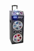 speaker boxes big trolley speaker with flesh lights USB SD MMC FM radio Bluetooth