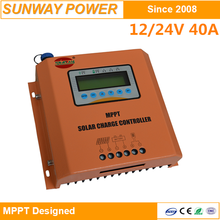 yellow mppt solar charge controller 12v 24v 40amp by user can to modify the system parameters setting