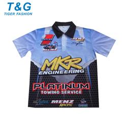 Custom made racing polo shirts