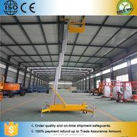 Hydraulic aluminum alloy single pole man lift