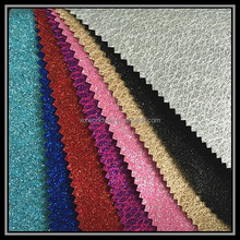 pu laether shining glitter and lace fabric