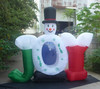 2014 Order Christmas decoration inflatable snowman with joy