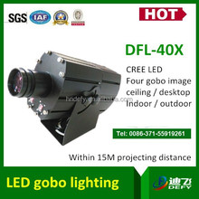 40 watt outside waterproof IP65 led gobo lights projecting four image