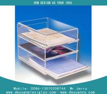 2015 hot sell head up A4 Acrylic brochure display rack holder