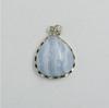 Blue Lace Agate Sterling Silver Fashion Pendant,stone pendant,heart pendant of two halves