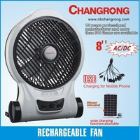 air cooler low-price plastic box fan with led light