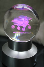 3d laser engraving personalized LED light base personalized crystal ball