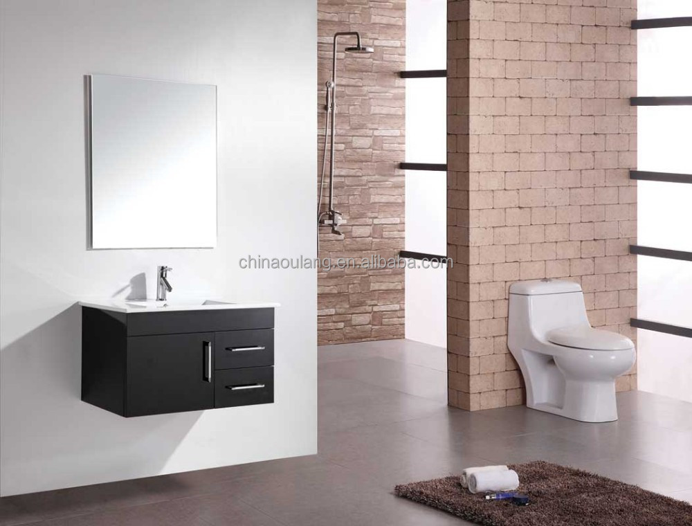 2015 Hot Sale Modern Mdf Bathroom Vanity Waterproof Mirror Cabinet