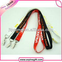 High quality shiny nylon lanyard for adult