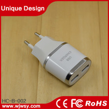 2015 Powerful Newest Designed World Dual USB Wall Charger 5V 3.1A Dual USB Wall Charger With CE ROHS FCC Certificate