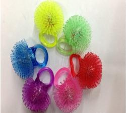 LED finger ring flashing novelty ring for party glowing in the dark light up toys mix colors soft finger lights