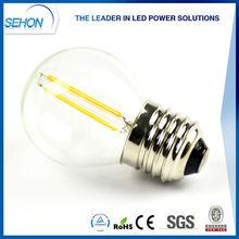 China supplier led decorative bulb e26 e27 e14 e12base filament christmas bulbs 2w 3w 4w led light g45