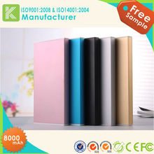 America Very Popular! Portable Mobile Power Bank/Mobile Power Supply, slim power bank 8000mAh