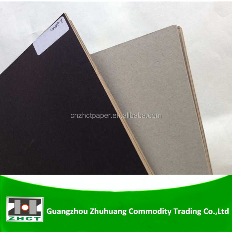 Mm laminated black paper board with grey back
