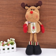 Lovely Santa Claus resin Reindeer Christmas Decorative Snowman Statue Ornaments SV009899