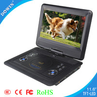 factory price 11.6 inch superior quality mp4 player DVD Portatil factory wholesale price quality usb tv sd radio game video