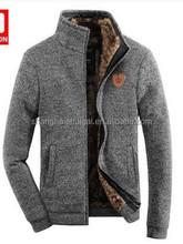 2015 Men thick pure wool cardigan winter sweater