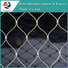 Baoding Baozhou lowest price chicken wire mesh stainless steel wire rope mesh