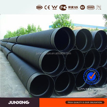 DN 200-800 mm hdpe large diameter corrugated drainage pipe manufacturer