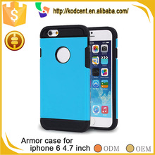 Shockproof funky hybrid cellphone back slim armor case for iphone 6
